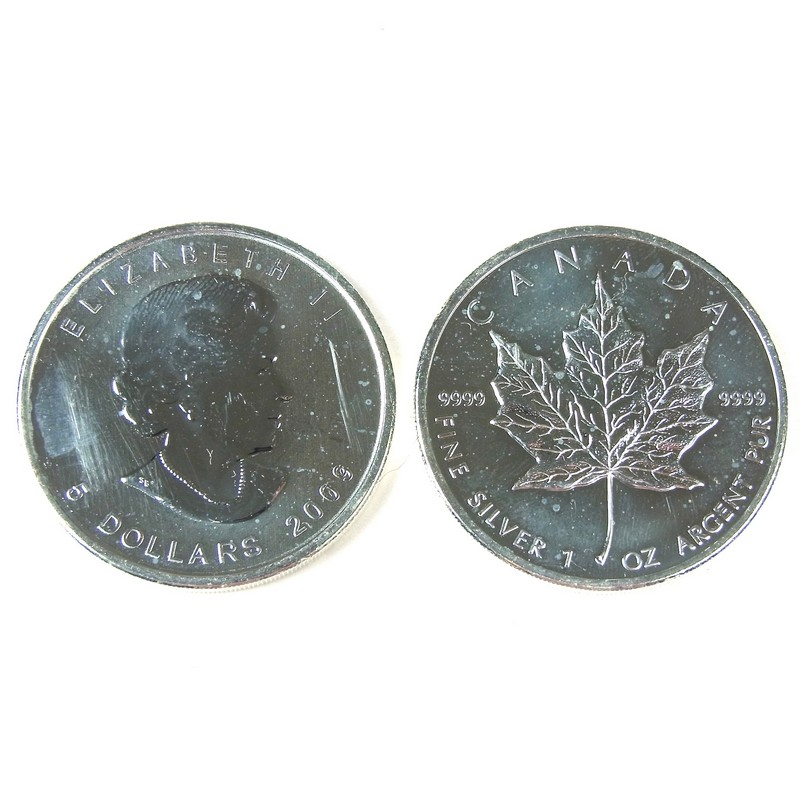 A Large Collection Of Canadian Fine Silver 5 Dollar