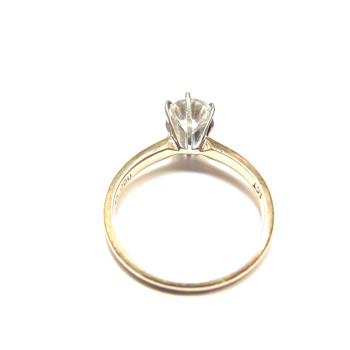 Yellow Gold Ring Enhancer For Marquise Diamond