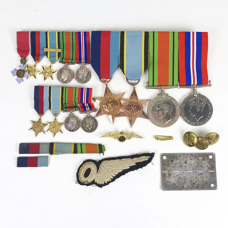 An historically interesting group of RAF medals, militaria and