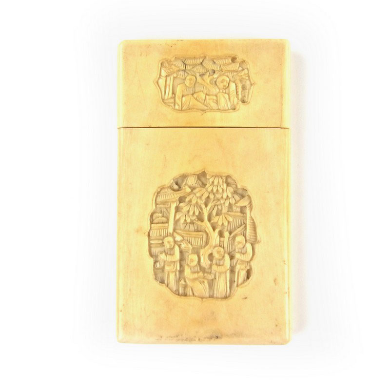 2ba205f8c63993 A Chinese ivory card case