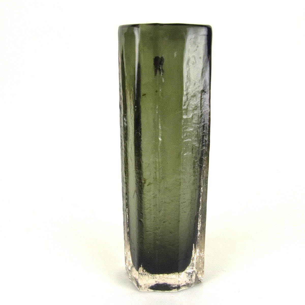A Whitefriars Glass Cucumber Vase