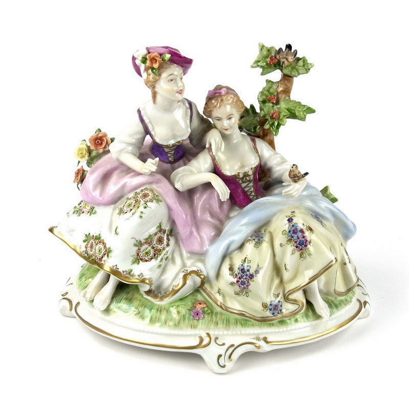 A group of seven German porcelain figurines - Image 2