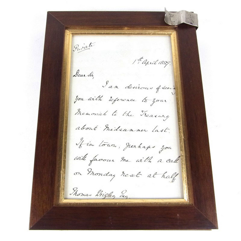 Great Britain Postal History: A letter written and signed by Rowland Hill, inventor of the penny post - Image 1