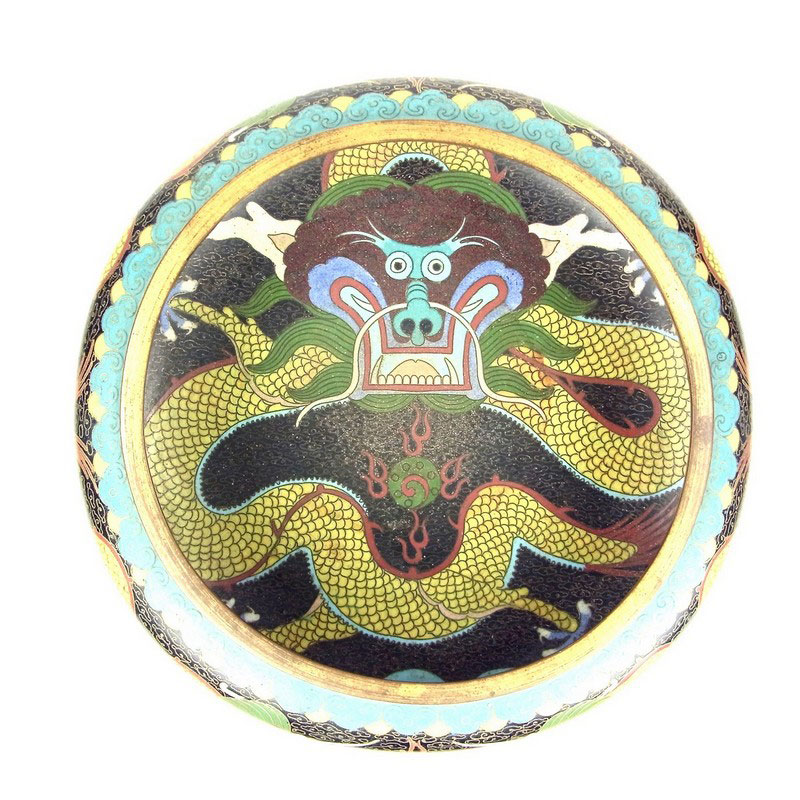 A Chinese cloisonne enamelled bowl, 20th century - Image 2